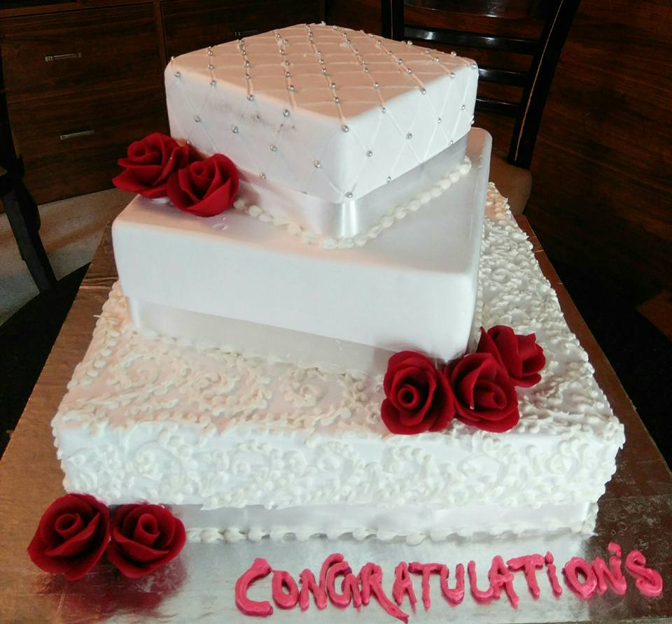 Fine 3 Tier White Lover Cake 5Kg Cake For You Funny Birthday Cards Online Chimdamsfinfo