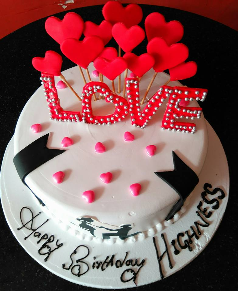 Fantastic Heart Birthday Cake For Lover Funny Birthday Cards Online Inifofree Goldxyz