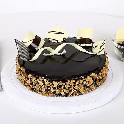 chocolate walnut cake for you
