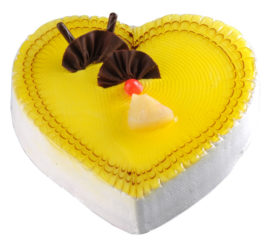 Pineapple Heart Cake
