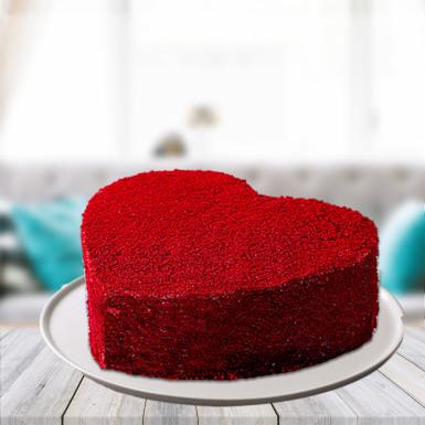 Red velvet heart cake for you