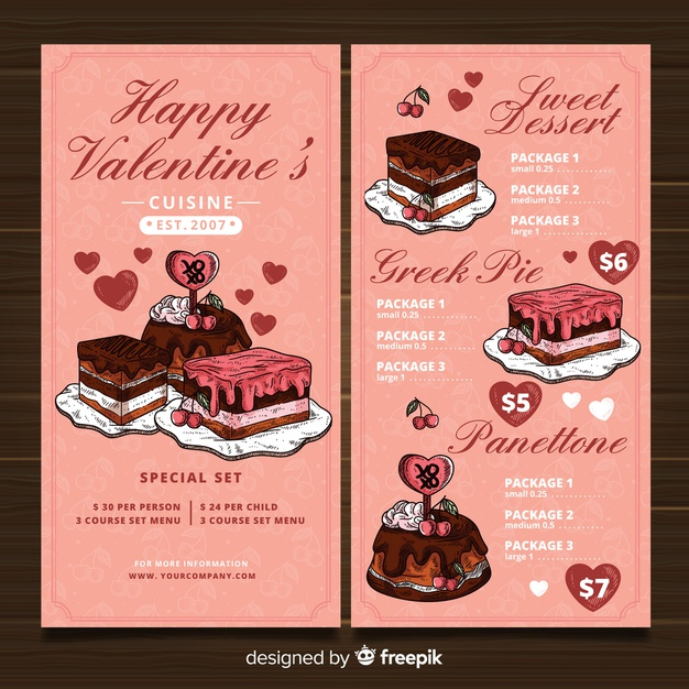 Valentine Day Cakes and cupcakes
