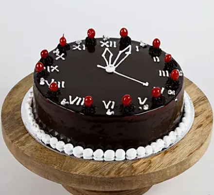 Peachy 11 New Year Chocolate Watch Cake For You Personalised Birthday Cards Arneslily Jamesorg